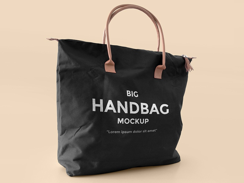 FREEBIE: Big Handbag Mockup fashion free handbag bag mock up mock-up mockup freebie design psd
