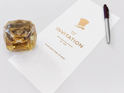 FREEBIE Invitation Mockup by AlienValley Dribbble