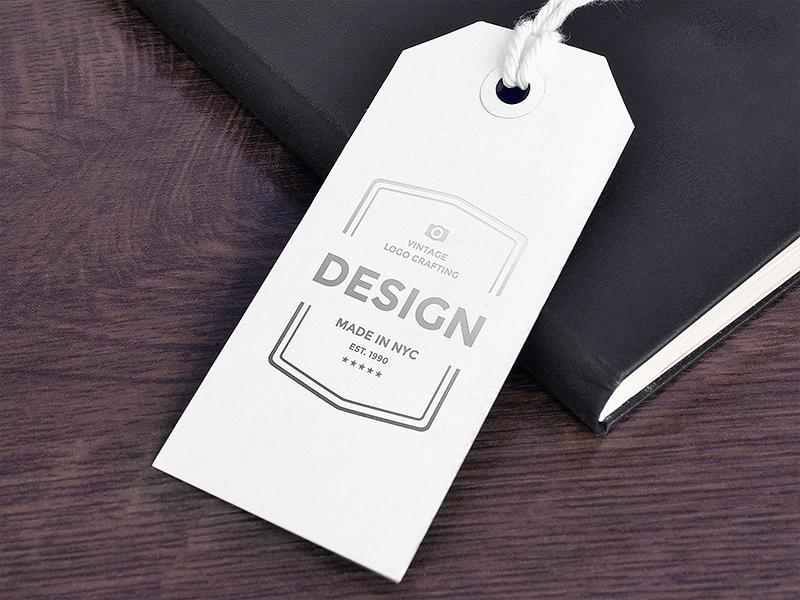 Freebie: Paper Tag Mockup stationery badge identity branding silver foil paper tag logo mock-up mock up mockup psd freebie