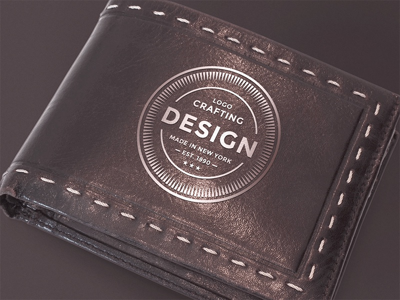 Freebie: Leather Wallet Mockup wallet mockup identity branding logo leather wallet mock-up mock up mockup freebie psd