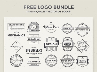 Free Logo Bundle logo set free logo branding identity bundle logo psd freebie