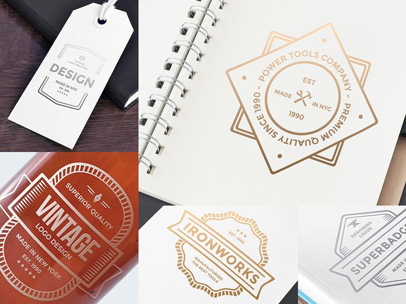 Free Logo Bundle - More Previews badges free logos identity branding logos logo design psd freebie