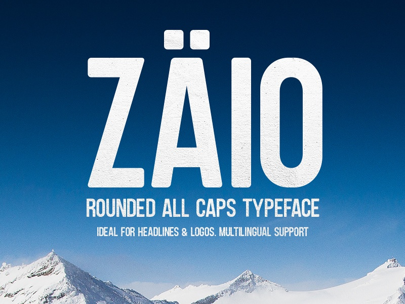 Freebie: Zaio Rounded Font all caps free typeface free font freebies freebie caps zaio design typography free typeface font