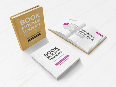 Freebie: Hardcover Book Mockup Set