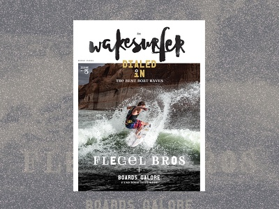 Wakesurfer Cover cover layout editorial magazine wakeboarding