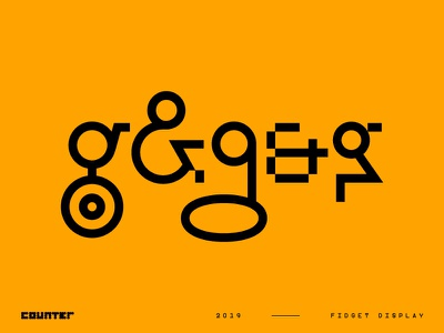 Fidget Display – A Modern Mashup! font design stylisticalternatives sansserif displayfont experience fontforsale font typedesign type typography