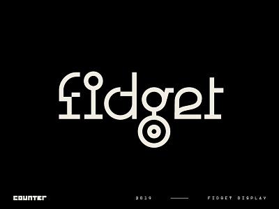 Fidget Display – A Modern Mashup! sans serif font sanserif sans logotype letter headline experimental fontdesign fontforsale font typefacedesign typeface type typography display font