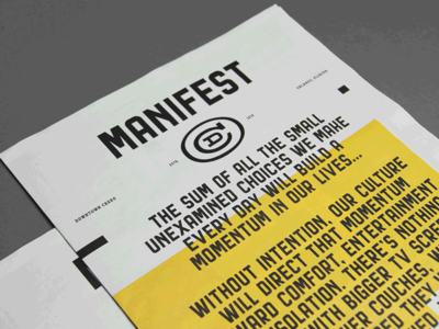 Downtown Credo — Manifest Display