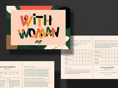 Orange Blossom Midwifery — Postcards postcard orange blossom orange midwifery midwife layout typography branding print design print