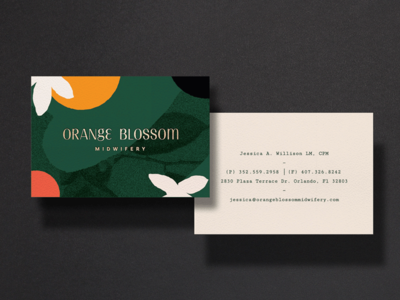 Orange Blossom Midwifery — Business Cards