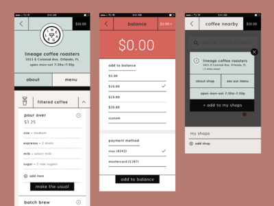 The Usual App — UX/UI app layout product design product ui ux