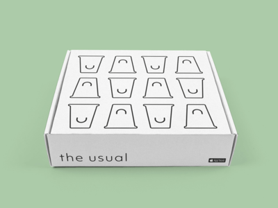The Usual — Box coffee box packaging logo identity branding