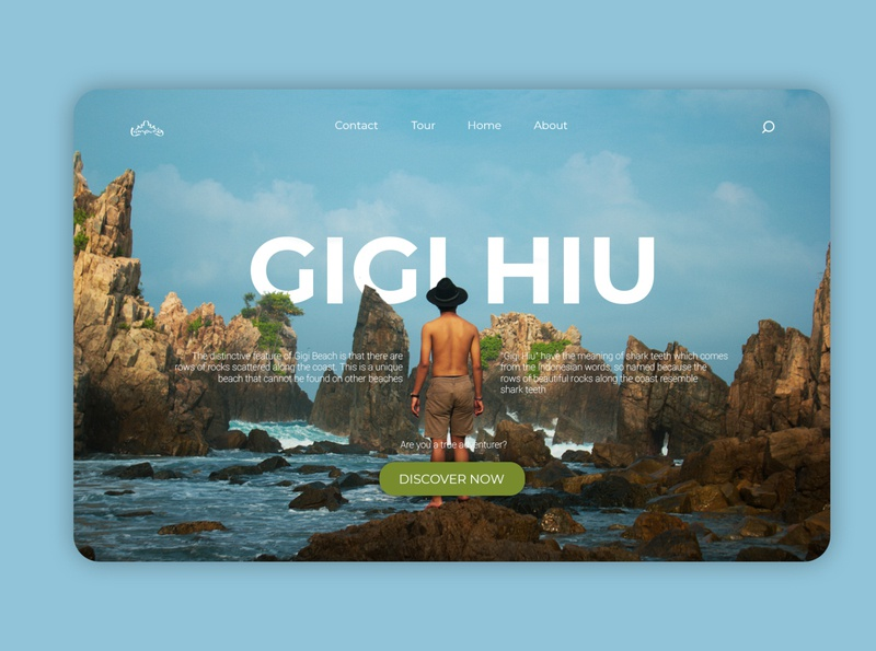 Gigi Hiu - Travel Website Landing Page landing page concept illustration design blurred background blur website landing page landing design graphic design art