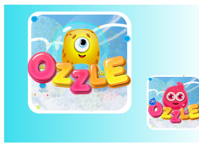 Ozzle the game Icon mobile logo cartoon logo icon design logo design game logo game icon