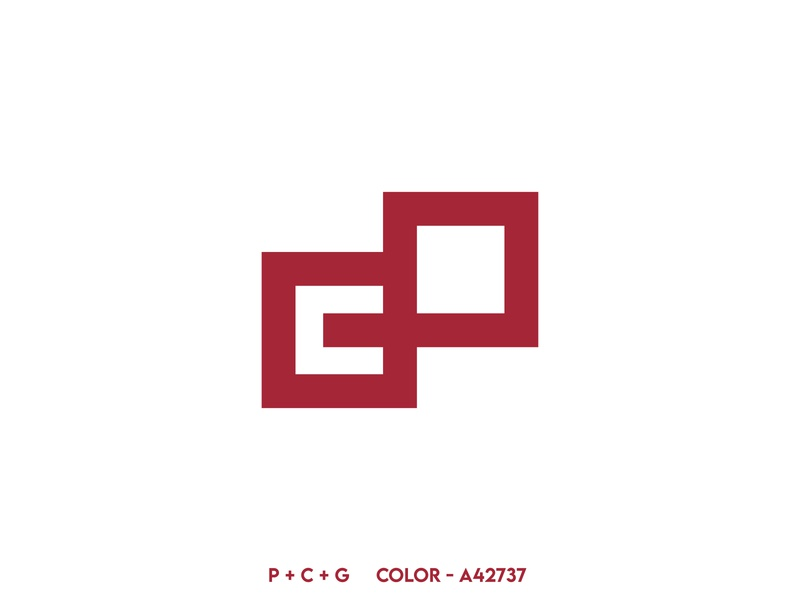 PCG logo loan financial design minimal logo branding