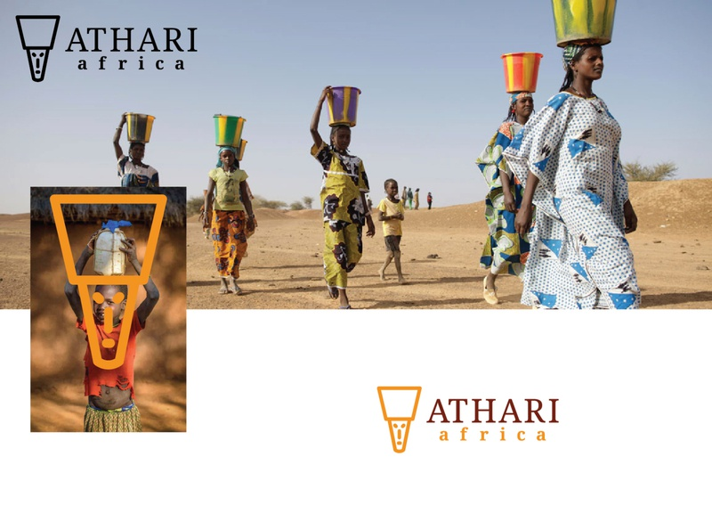 Athari Africa Logo luxury logo luxurious travel agency traveling africa logo design branding