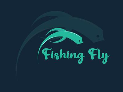 Fishing Flay Logo Design concept | Premium Resource | Abu Sayed animal illustrator graphic design minimal flat typography vector branding design logo illustration
