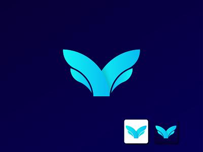 Custom V+M letter logo design icon clean letter app vector branding minimal flat logo typography