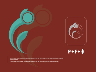 P+F custom design । Abu Sayed illustration letter app icon minimal branding vector logo flat typography