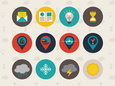 Animated Flat Icons: Business marker pin location icon gifs flat design digital design business animated gif