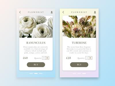 Flowerist App ios principle ecommerce design interaction flowers android ui mobile app