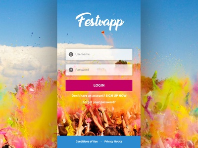 Festvapp - A Festival Ticketing App ticketing product ui mobile ios interaction design app android