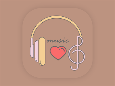 Daily Ui 005 (App  Icon) logo branding vector music ui illustration dailyuichallenge daily ui dailyui design