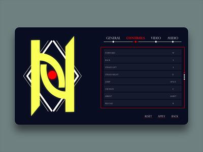 Daily UI 007 (Game Setting UI) settings ui game design game art logo dailyuichallenge daily ui dailyui design