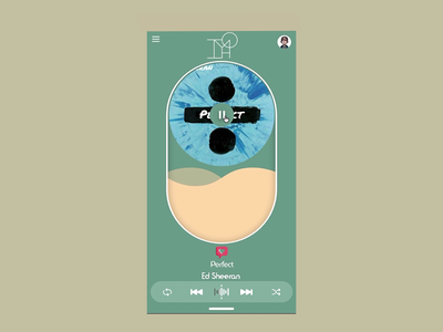 Daily UI 009 Music Player UX animation music player music practice ux