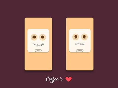Daily UI 011 unique design flat app flashmessage coffee ui vector illustration dailyuichallenge design daily ui dailyui