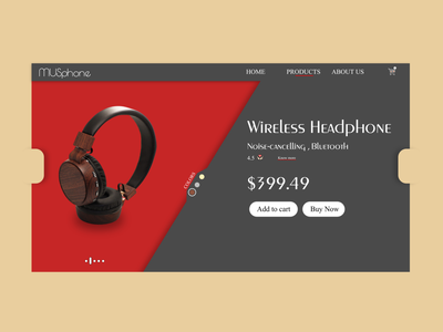 Daily UI 012 webdesign headphones headphone shopping app shopping product page product web design website flat web branding ui dailyuichallenge design daily ui dailyui