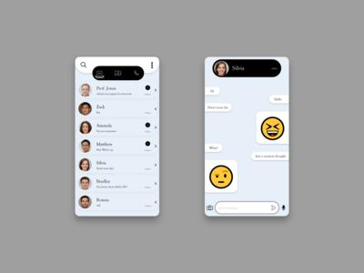 Daily UI 013 unique design whatsapp redesign messaging app direct messaging app ui dailyuichallenge design daily ui dailyui