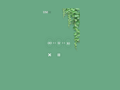Daily UI 014 (UX) countdowntimer illustration animation ux dailyuichallenge dailyui ux design nature natural timer app unique design uxui