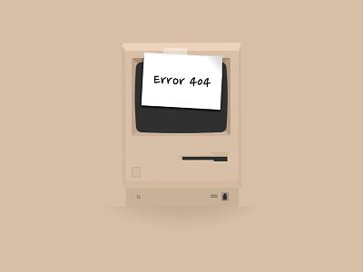Error 404 clean minimalist minimalistic error 404 macintosh 128k beige couldnt find page axelboberg.se404
