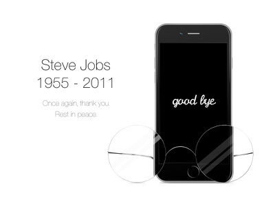 To Steve steve jobs rip three inspiration minimal clean glasses iphone