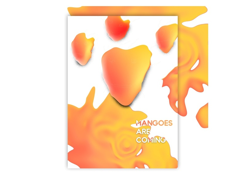 Mangoes photoshop typography vector illustration art poster art poster poster a day