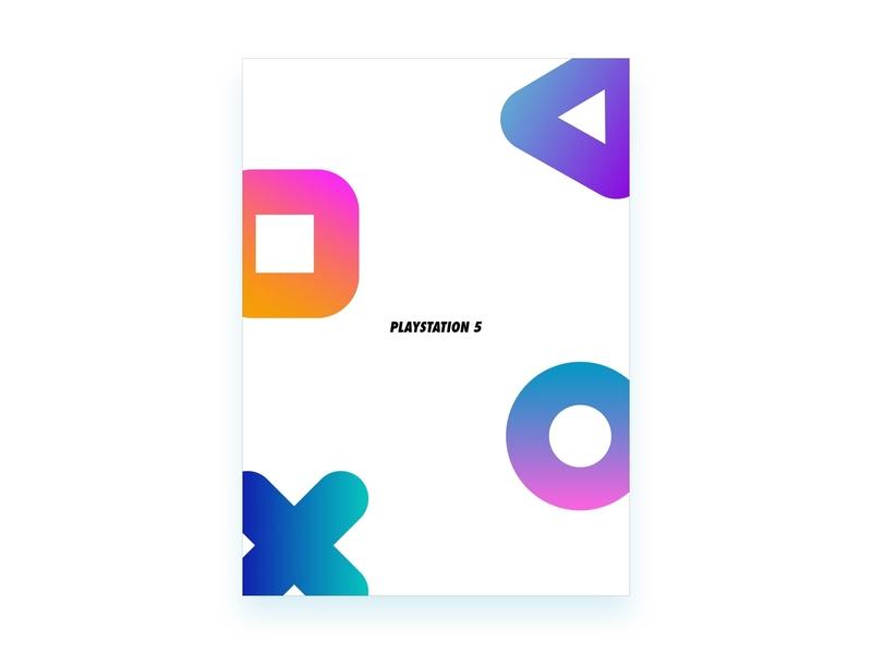 Playstation 5 logo design logo design poster a day poster art ps5 art illustration trailer poster playstation playstation 5