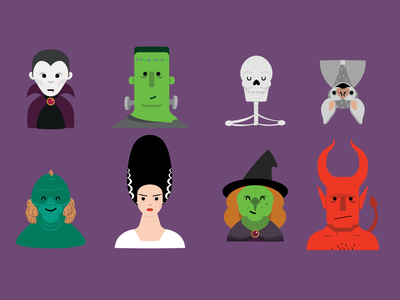 Seasonal Heads 2 halloween drawing characters character design vector illustration vector art vector illustrator illustration