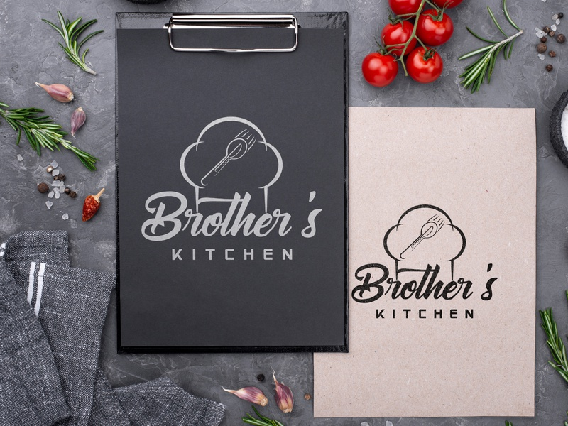 Brother's Kitchen Logo Design (For A Restaurant) design icon photoshop branding illustration graphic design vector typography logo illustrator