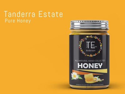 Tanderra Estate Honey Jar Design design redesign honey logo branding minimalist