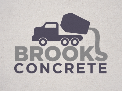 Brooks Concrete logo branding