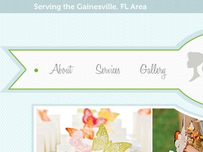 Wedding Designer Navigation navigation texture blue green