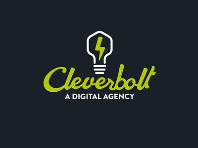 Cleverbolt creative agency lightbulb lightning bolt logo