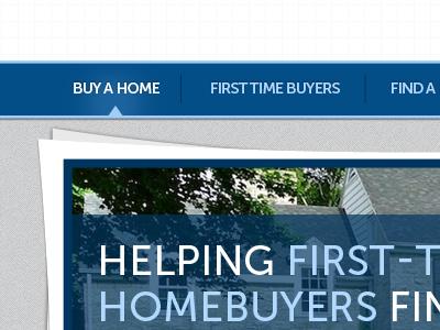 Buy a Home Navigation navigation nav website web design real estate