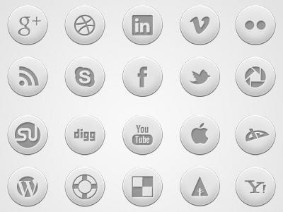 Crisp: Round Social Media Icon Set icons social free