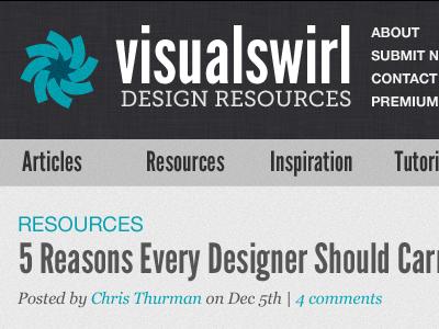 Visual Swirl photoshop identity typography blue header