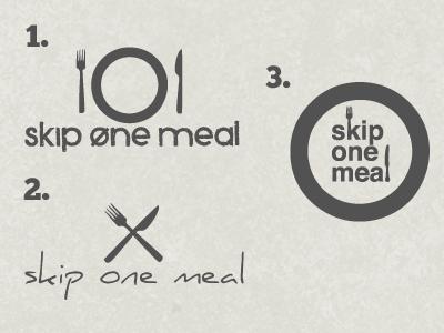 Skip One Meal logo feedback nonprofit