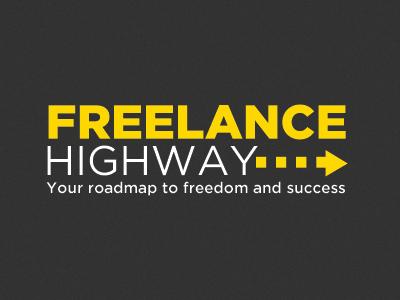 Freelance Highway freelance logo branding yellow typography
