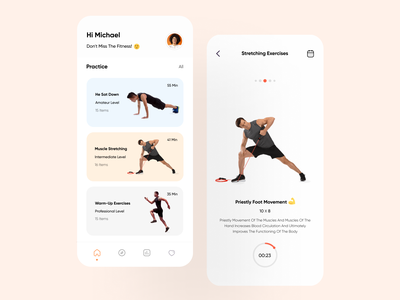 Fitness App UI Design gym fitness app workout fitness ux app ui