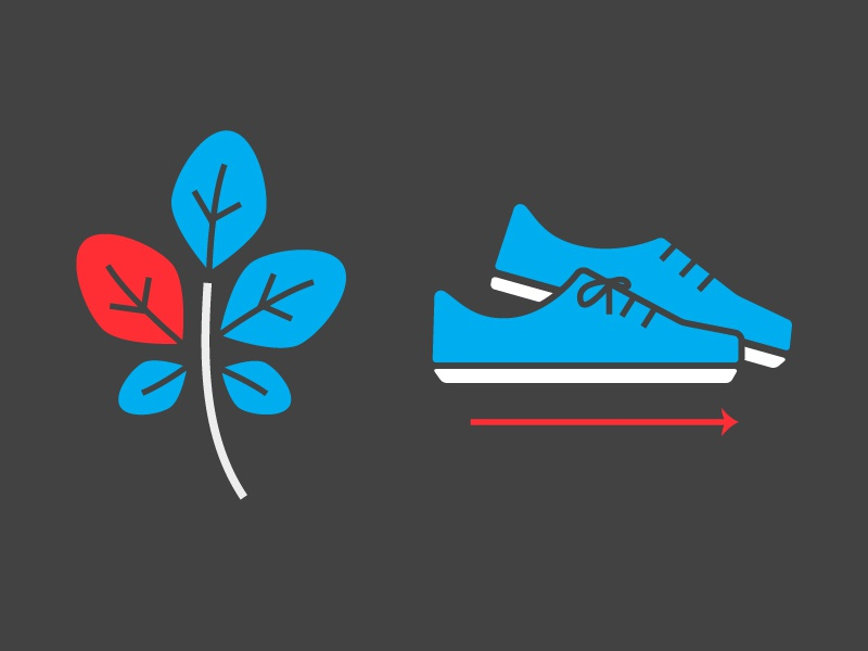 Collegiate icons leaf running shoes icon pilot interactive